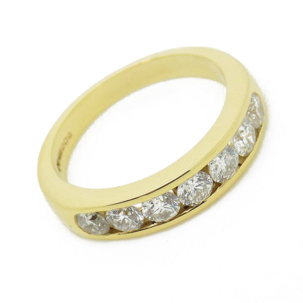 18ct Yellow Gold Seven Diamond Channel Set Eternity Ring Detail