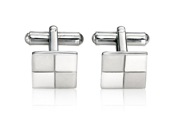 'Fred Bennett' Gents Steel Brushed and Polished Cufflinks