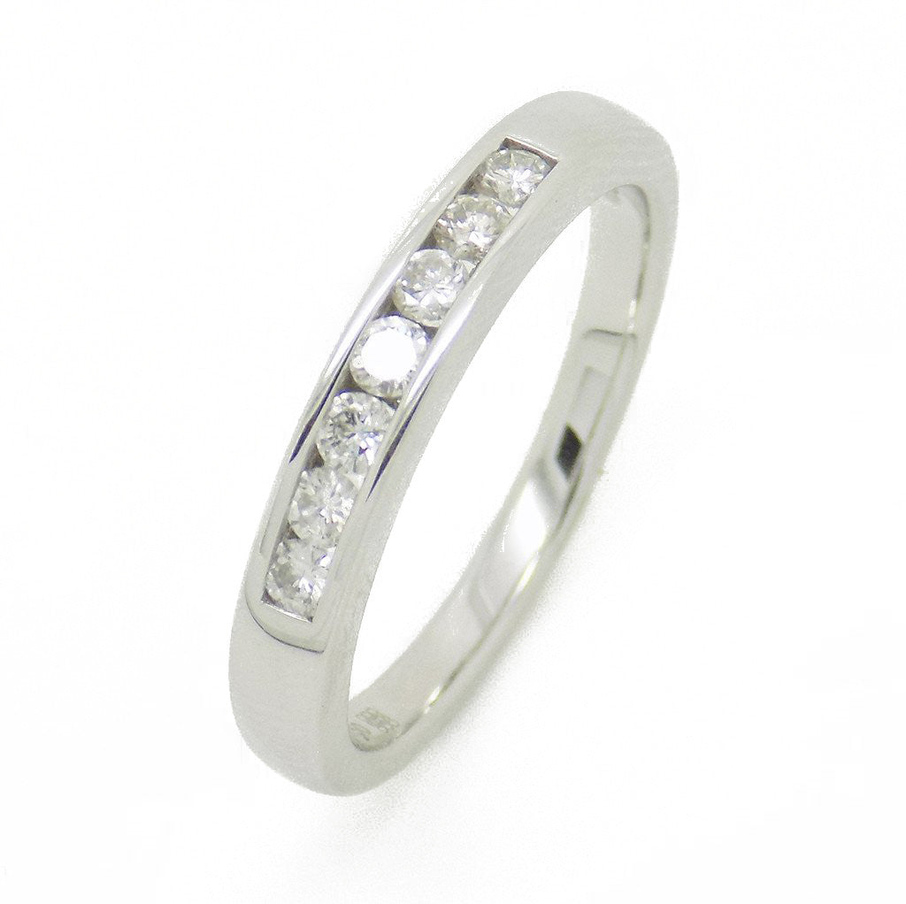 18ct White Gold Seven Round Diamond Eternity Ring