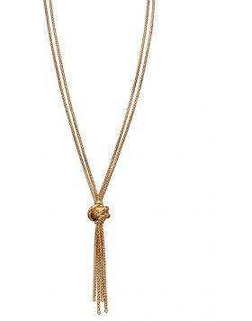 'Elements' 9ct Yellow Gold Knot Necklace