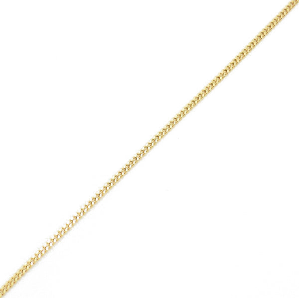 "18ct Yellow Gold 16"" Fine Curb Chain - Detail"