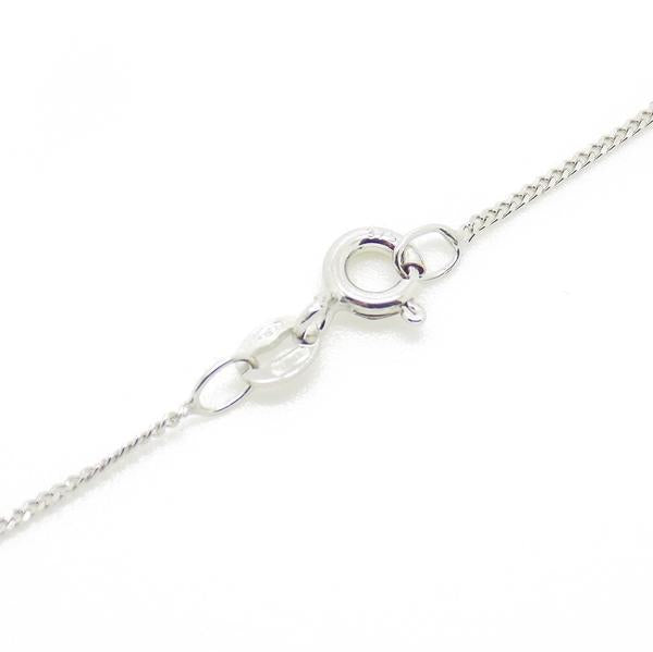 9ct White Gold Teardrop Freshwater Pearl & Diamond Pendant & Chain Fastening