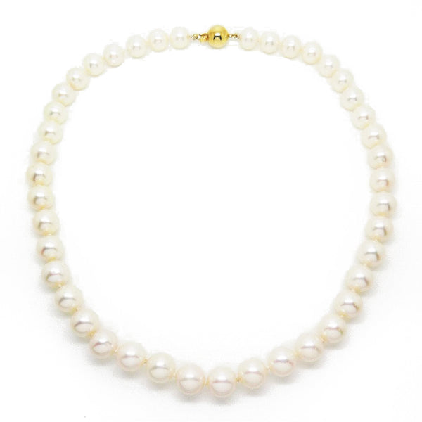 Single Row Freshwater Pearl Necklace Detail