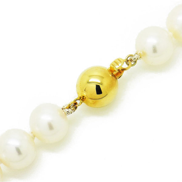 Single Row Freshwater Pearl Necklace Fastening