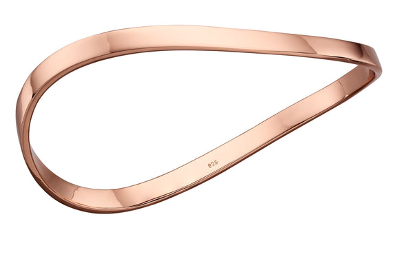 'Fiorelli' Rose Gold Plated Silver Wave Bangle