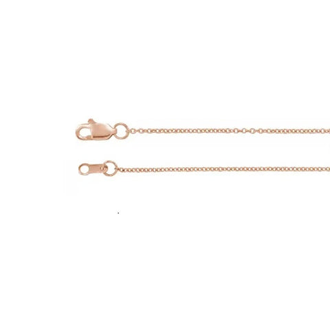 "Rose Gold Chain  1.1mm Cable 16"" 18"" 20"""