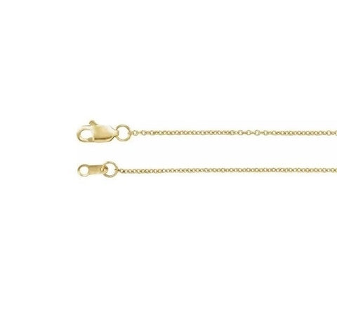 "Gold Chain 1.1mm 16"" 18"" 20"" Delicate Solid Gold Chain"