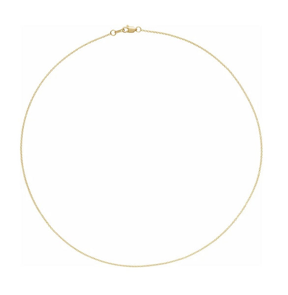 1.1mm Solid Gold Cable Chain Delicate Gold Chain Minimalist