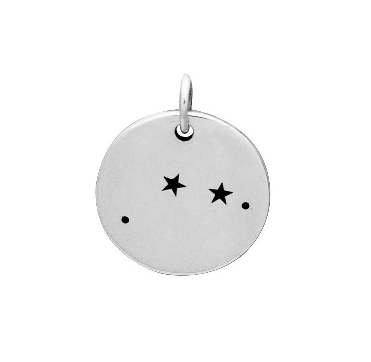 Silver Aries Constellation Charm Sterling Silver Constellation Charms Zodiac Charms