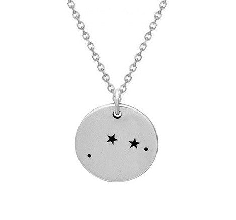 Aries Constellation Necklace Sterling Silver COnstellation Necklaces Celestial Necklace