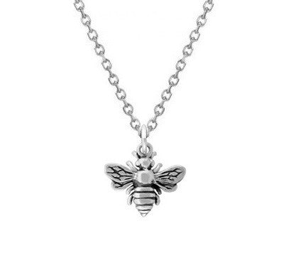 TINY BEE NECKLACE STERLING SILVER