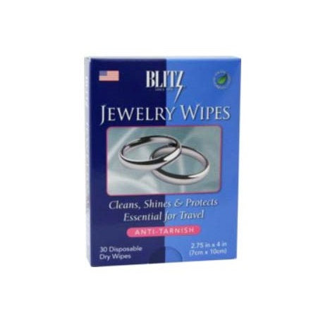 Jewelry Polishing Wipes Blitz Dry Disposable Wipes Travel Size