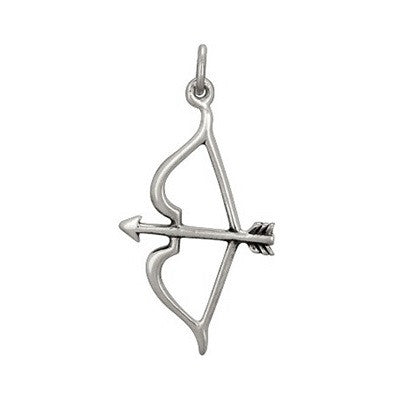 Silver Bow and Arrow Charm Sterling Silver Archery Charm