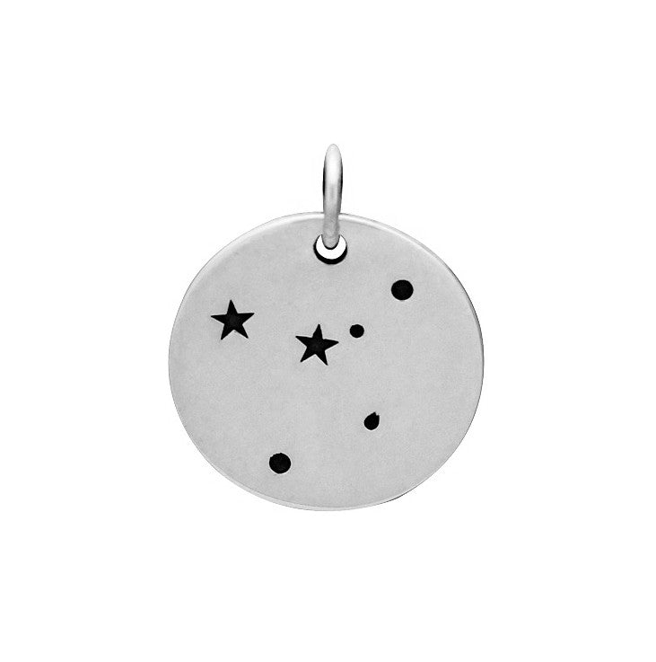 Constellation Charm Sterling Silver Cancer Zodiac Constellation