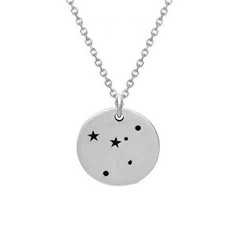 Silver Constellation Necklace Cancer Constellation Zodiac Necklace