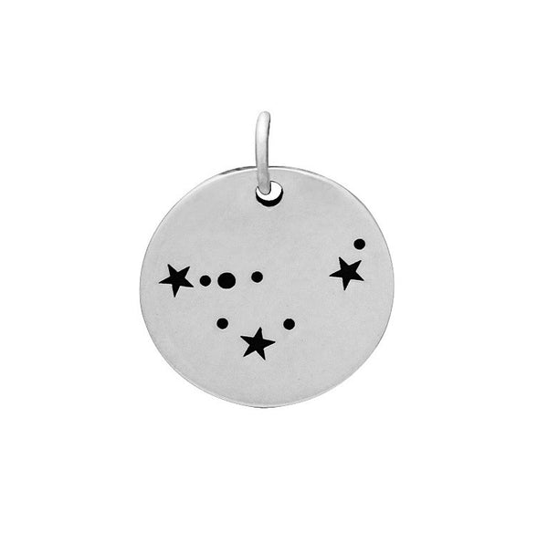 Constellation Charm Sterling Silver Zodiac Capricorn Constellatiion