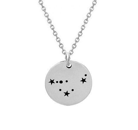 Constellation Necklace Sterling Silver Zodiac Capricorn Necklace