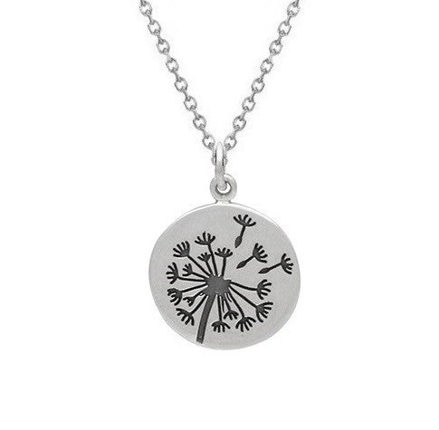 Dandelion Wish Necklace Sterling Silver