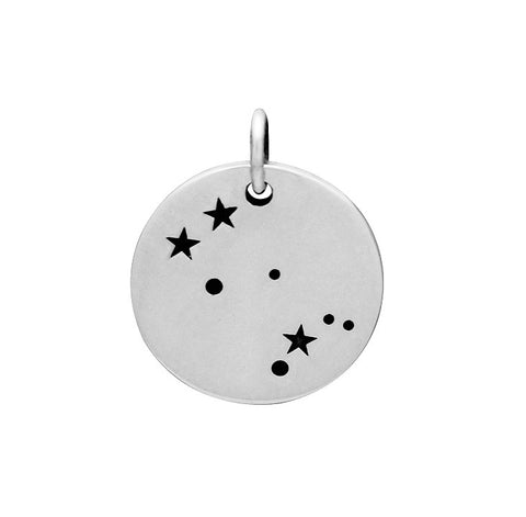 GEMINI CONSTELLATION CHARM STERLING SILVER