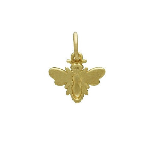 BEE CHARM 14K YELLOW GOLD HONEY BEE BUMBLE BEE