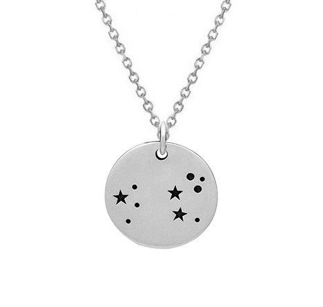 LEO CONSTELLATION NECKLACE STERLING SILVER
