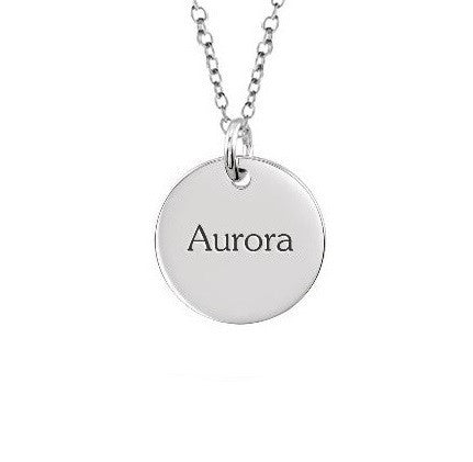 PERSONALIZED DISC NAME NECKLACE