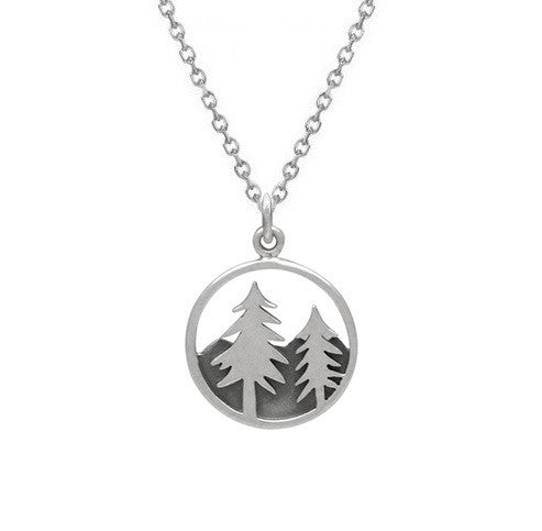 PINE TREE NECKLACE STERLING SILVER