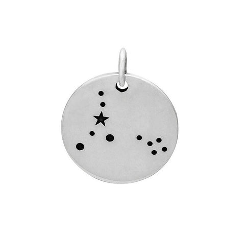 PISCES CONSTELLATION CHARM STERLING SILVER