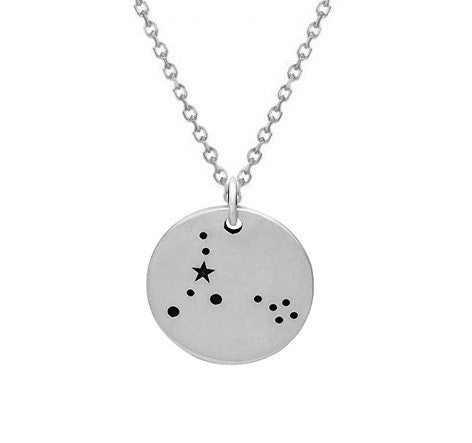 PISCES CONSTELLATION NECKLACE STERLING SILVER