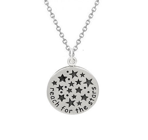 REACH FOR THE STARS NECKLACE STERLING SILVER