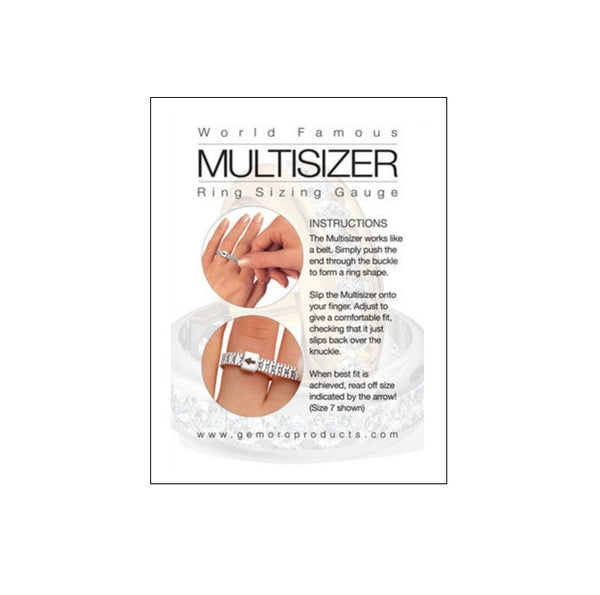 RING SIZER ADJUSTABLE REUSABLE PLASTIC RING SIZE FINDER
