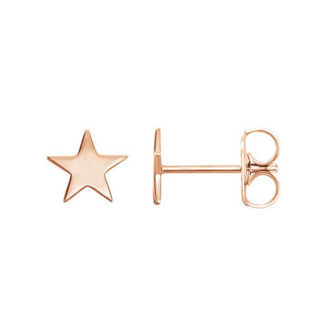 Star Earrings Rose Gold Star Stud Earrings, Star Studs, Minimalist Earrings