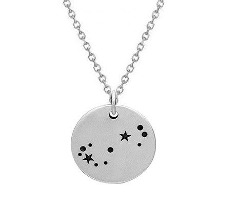 SCORPIO CONSTELLATION NECKLACE STERLING SILVER