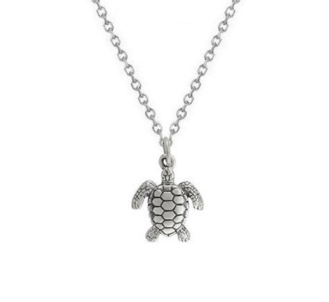 Sea Turtle Necklace Sterling Silver, Sea Turtle Charm, Sea Turtles, Turtle Necklace, Turtle Jewelry