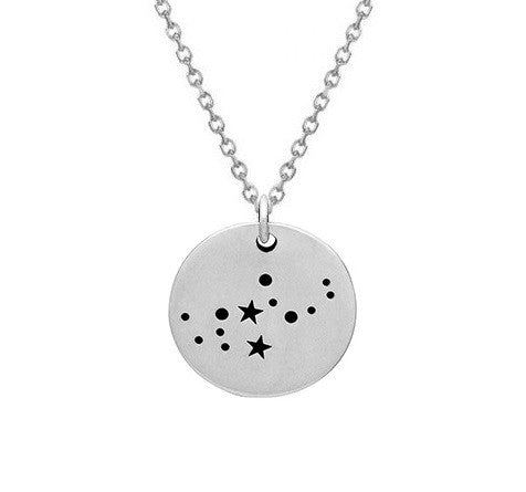 Constellation Necklace Silver Virgo Constellation Sterling Silver 925 Celestial Necklace