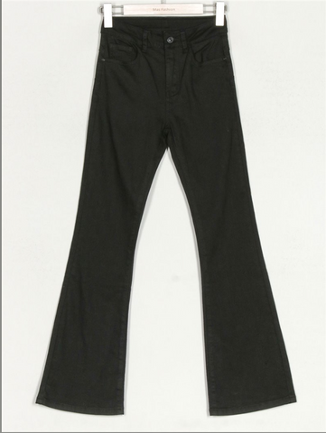 Jeans flare color negro