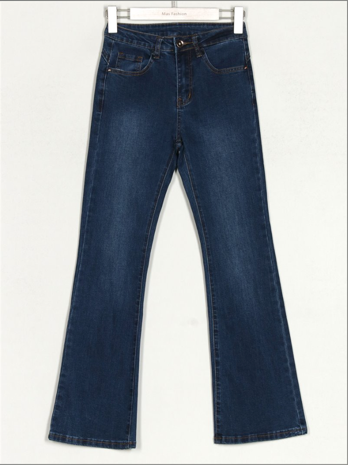 Jeans flare color azul oscuro