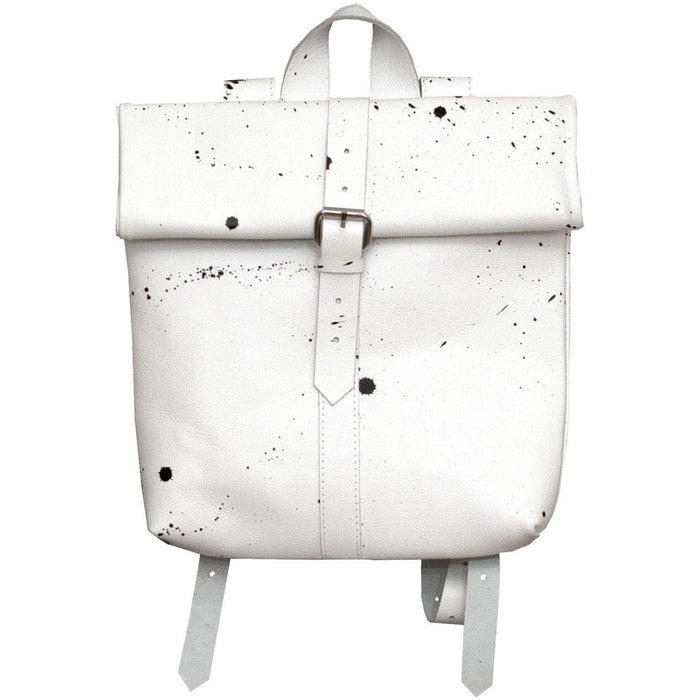 Small Buckle Rollitbag / white spattered