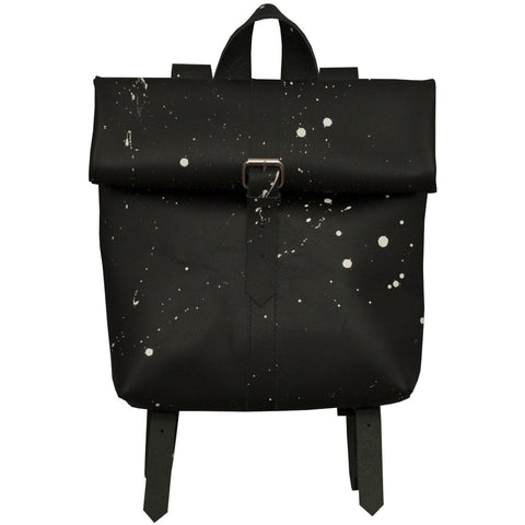 Small Buckle Rollitbag / black spattered