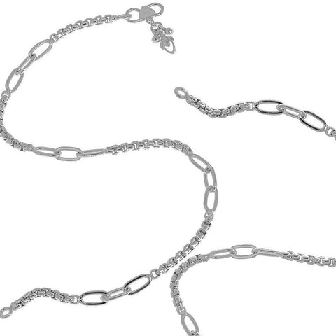A Pair of Foot Chain Anklet Bracelet Sterling Silver Jewellery For Women 10 Inch Pair