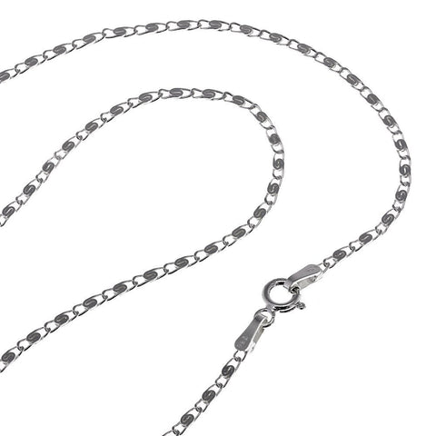 925 hallmarked Sterling Silver chain spring ring clasp Indian 18 inches