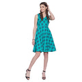 Women Apparels Cotton Printed Dress,Machine Washable,W-CPD32-1606