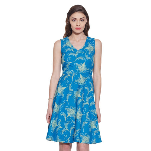 Clothes For Women Cotton Printed Dress,Machine Washable,W-CPD32-1618