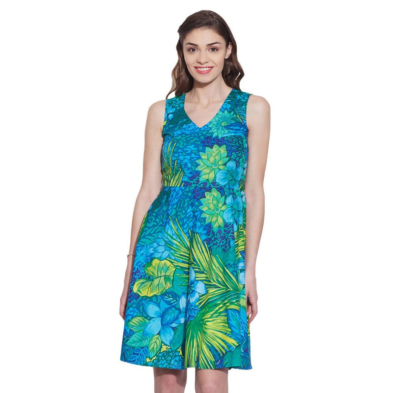 Womens Clothing Cotton Printed Dress,Machine washable,W-CPD32-1624