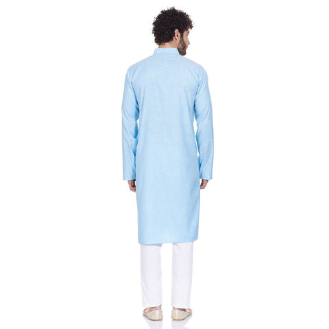 Traditional Indian Dress Men Kurta Pajama Set Comfortable Anniversary Gifts
