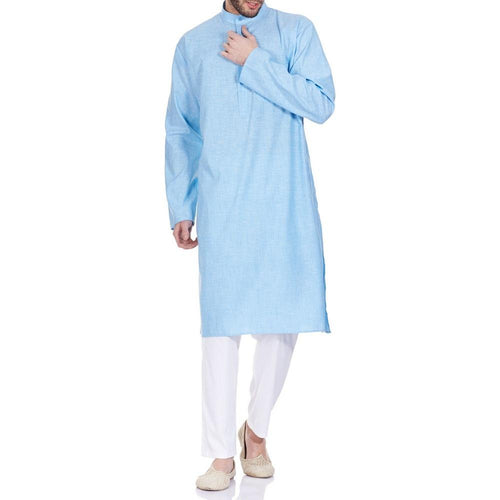 Traditional Indian Dress Men Kurta Pajama Set Comfortable Anniversary Gifts 42 Inches