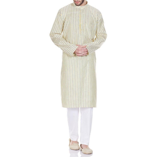 Comfortable Kurta Pajama Set Traditional Indian Dress Gifts For Husband 42 Inches
