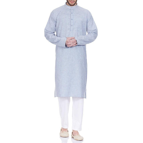 Comfortable Kurta Pajama Set For Men Traditional Wear Indian Anniversary Gifts 42 Inches