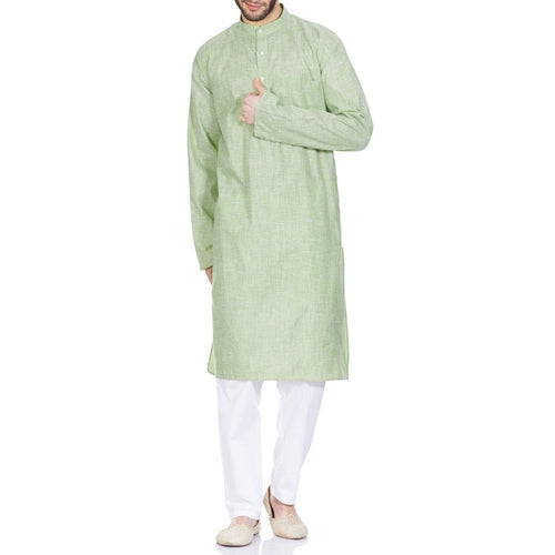 Indian Costume Men Kurta Pajama Set Relaxed Fit Gifts 44 Inches