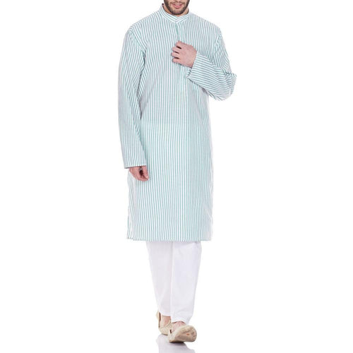 Indian Costume Men Kurta Pajama Set Comfort Fit Anniversary Gifts 42 Inches